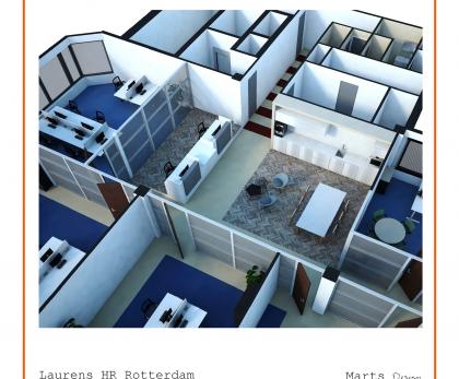 Laurens afdeling HR: Ontwerp kantoor, inrichting facilitaire voorzieningen, change management en begeleiden van verhuizing